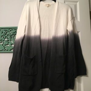 Dip Tie Dyed Summer Beach Cardigan Sweater - L